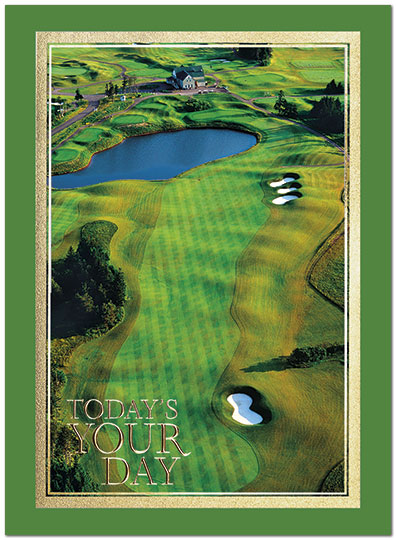 Golf Course Birthday Card A8014U-X