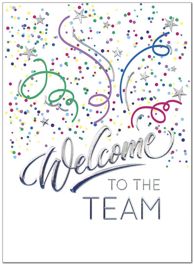 Welcome Confetti Card A8054U-X