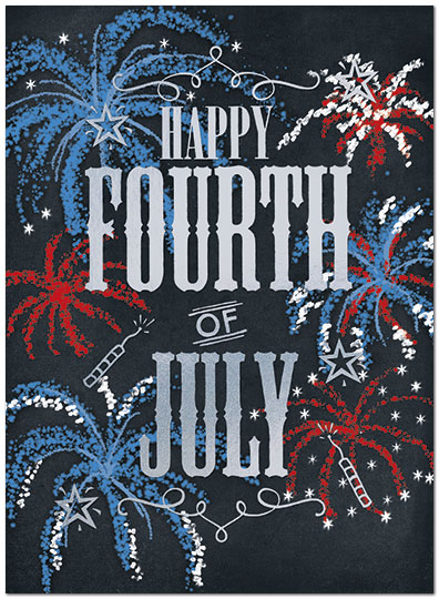 fireworks fourth of july card independence day cards posty cards
