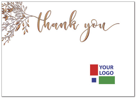 Branch Logo Thank You Card D8046D-4W