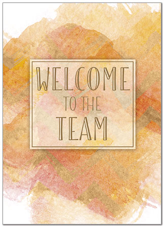 Watercolor Welcome Card D8055D-X