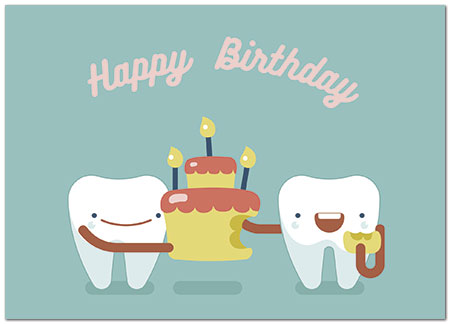 Party Teeth Birthday Card