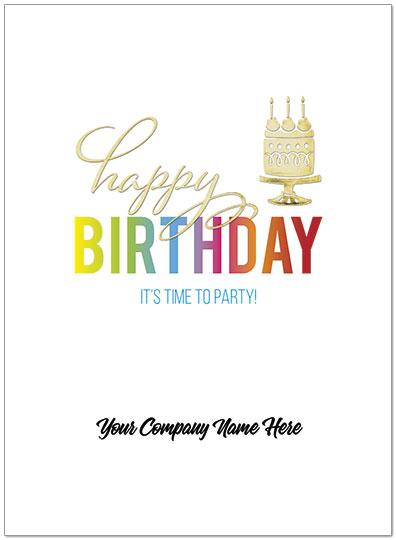 Rainbow Birthday Name Card | Company Name Birthday Cards | Posty Cards