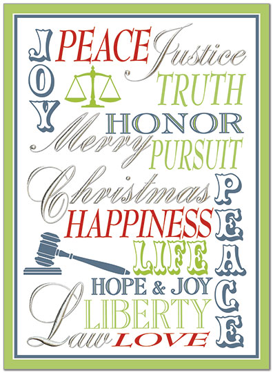 Pursuit Of Christmas Lawyer Card Legal Holiday Cards Posty Cards