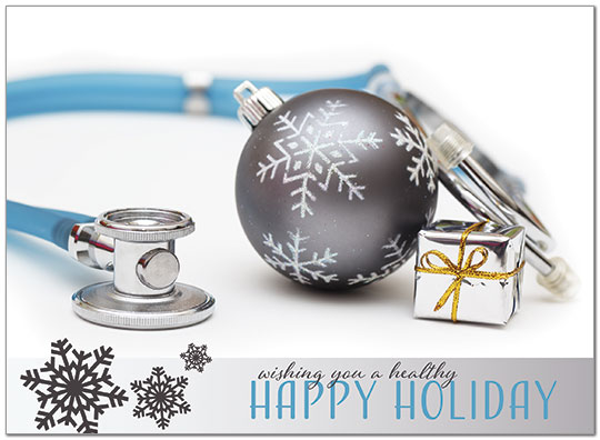 Medical Holiday Card D8228U-A