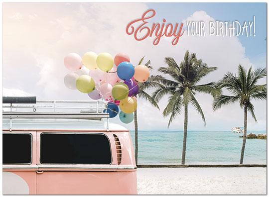 Birthday Beach Greeting Card Tropical Birthday Cards Posty Cards