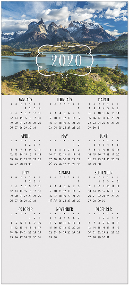Mountain Premium Calendar Card C9104U-AAA