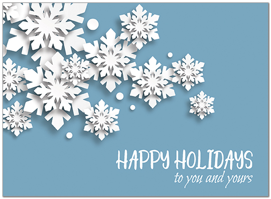 Snowflakes Holiday Card D9176U-A