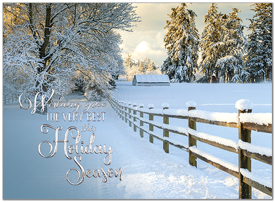 Fence Line Wishes Holiday Card H9158U-AA