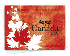 Business Canada Day Cards