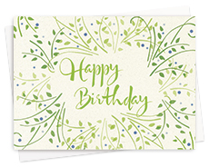 Green Birthday Cards
