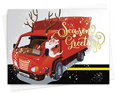 Trucking Theme Greeting Cards
