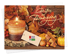 Company Logo Thanksgiving Cards