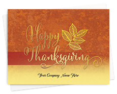 Company Name Thanksgiving Cards
