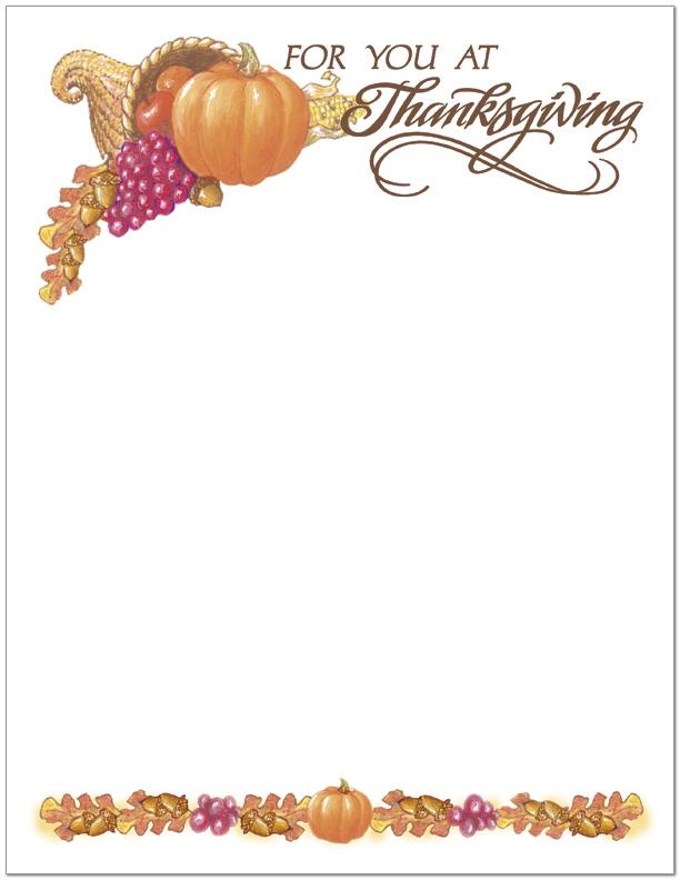 Business Thanksgiving Cards | Thanksgiving Letterhead | M117M-B