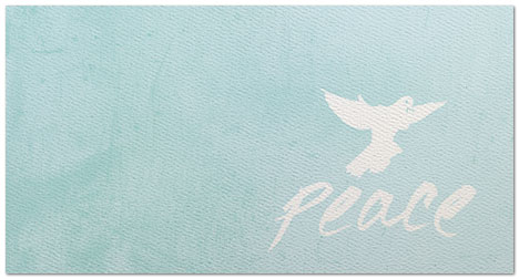 Peace Holiday Card X586T-B