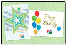 custom logo birthday cards from posty cards, Birthday card