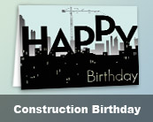Construction Birthday Cards