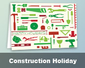 Construction Holiday Cards