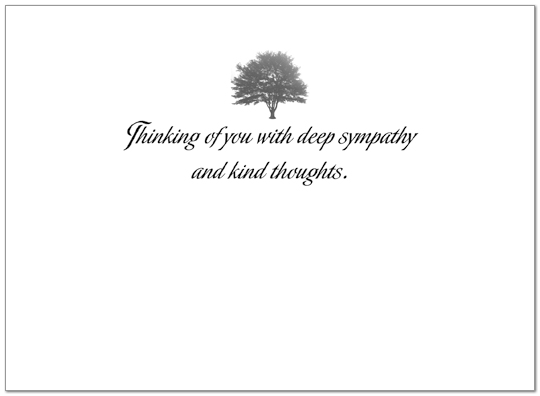 Sympathy Tree Greeting Card 742U-X