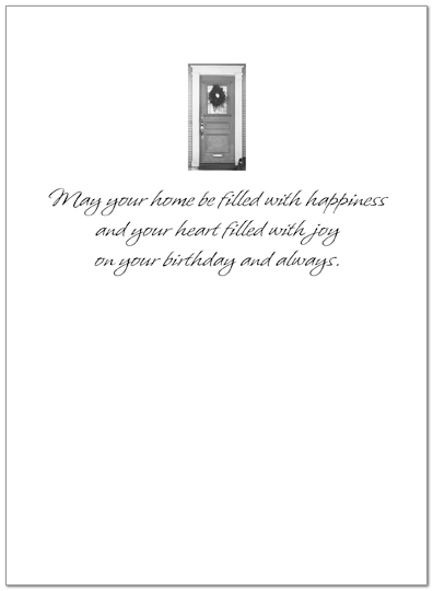 Birthday Welcome Greeting Card 820U-X