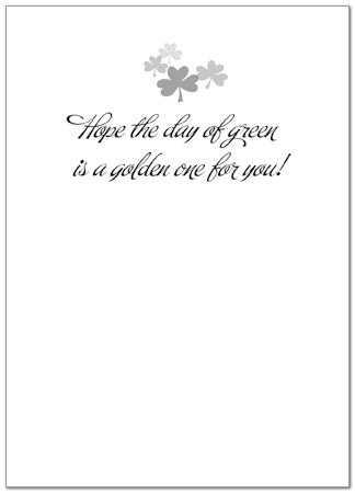 St. Patrick's Day Greeting Card 862D-Y