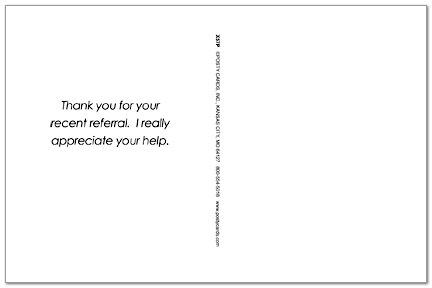 Referral Thank You Postcard Business Thank You Cards Posty Cards