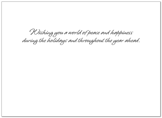 World of Peace Holiday Card X555G-AAA