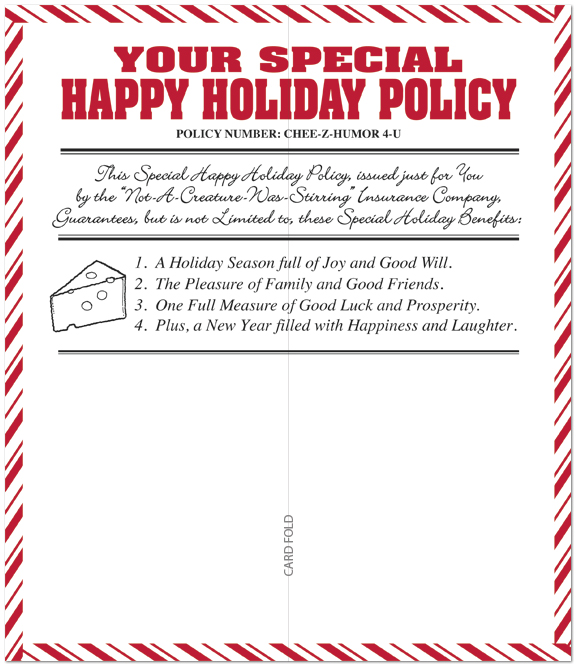 North Pole Policy Holiday Card H2204L-A