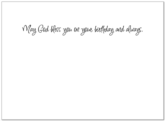 Scenic Psalm Birthday Card A6032U-Y