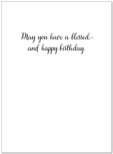 Watercolor Peace Birthday Card A7042U-Y