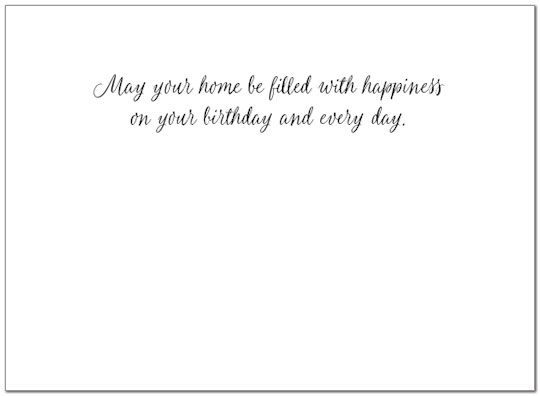 Welcome Home Birthday Card A8016U-X