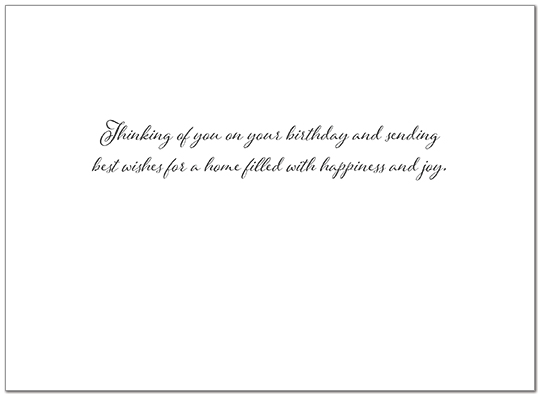 Welcome Glow Birthday Card A9005G-W