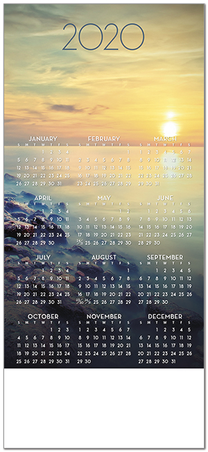 Sunset Magnetic Mini Calendar D9123Q-4B
