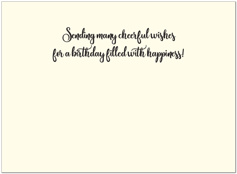 Birthday Ribbons Greeting Card A1400V-W
