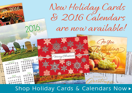 New Holiday Cards & 2016 Calendars are now available!