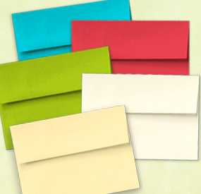 New Colored Envelopes
