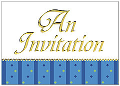 Formal Invitation Greeting Card 748D-X