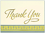Golden Thank You Card Blank 749D-X