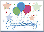 Balloon Congratulations Greeting Card 751U-Y
