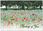 Thinking of You Floral Greeting Card 752D-Y