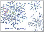 Snowflake Sparkle Holiday Card 7529S-AAA