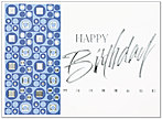 Contemporary Birthday Greeting Card 812U-X
