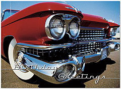 Classic Car Birthday Card 828U-Y