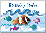 Birthday Fishes Greeting Card 829U-Y