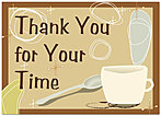 Thank You for Your Time Greeting Card 858D-Y