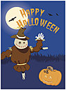 Halloween Greeting Card 867U-Y