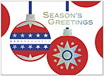 Patriotic Glitter Holiday Card 8533S-AAA