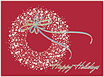 Sparkle Wreath Holiday Card 8534S-AAA