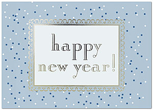 New Year Confetti Holiday Card 8552D-AA